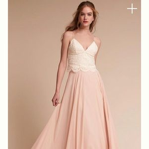 Anthropologie BHLDN and Jenny Yoo Lace Pippa Crop